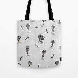 Running through the rain2 Tote Bag