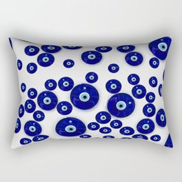 Greek Blue Glass Evil Eye Amulet Rectangular Pillow