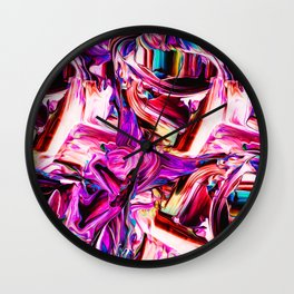 Colorful Abstract Liquid Paint IV Wall Clock