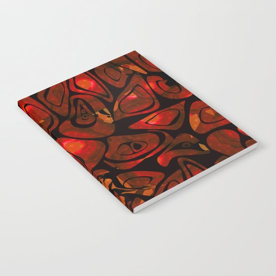 Abstract red black pattern stone texture Notebook