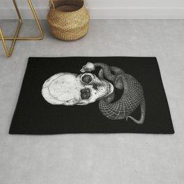 Skull and snake Rug