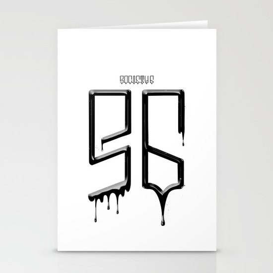 S6 TEE BLACK PAINT Stationery Cards