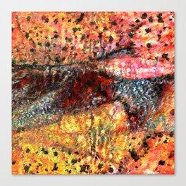 Sedimentary Rock Abstract Canvas Print