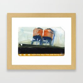 NYC Water Towers Painted on subway fare card Framed Art Print