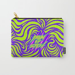 IRON of STEEL green on purple Carry-All Pouch