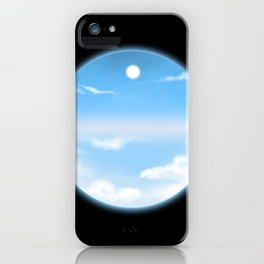 World Within Me - Blue iPhone Case