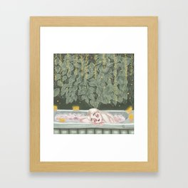 Magic of resting hours Framed Art Print
