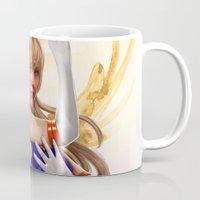 sailor venus Mugs featuring Sailor Venus by KlsteeleArt