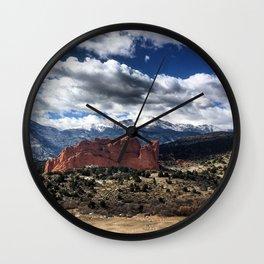 Pikes Peak - Colorado Springs Wall Clock