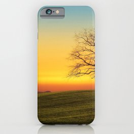 Lonely Tree On Hillside At Sunset Ultra HD iPhone Case