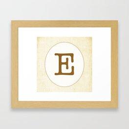 Vintage Letter Series - E Framed Art Print