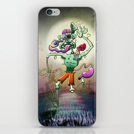 Zombie in Trouble Falling Apart iPhone Skin