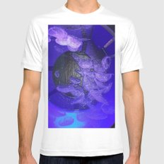 Acrylic Jelly Fish Mens Fitted Tee MEDIUM White