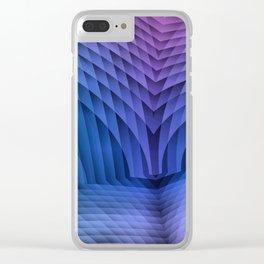 Geometric Path Blue-Pink Clear iPhone Case
