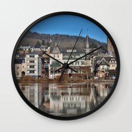 Jugendstil Hotel Moselle River Wall Clock