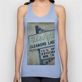 Unique Laundry Sign Unisex Tank Top