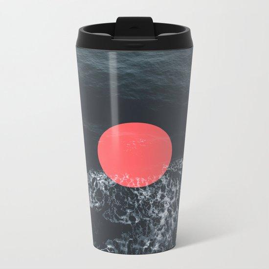 Ocean Circle Metal Travel Mug