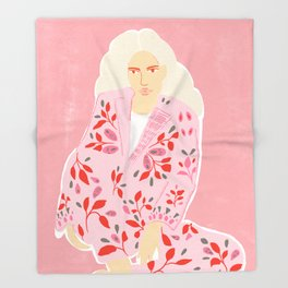 Pink Lady Throw Blanket