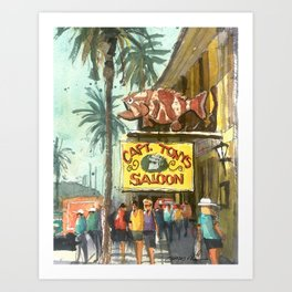 Captain Tony's, Key West Art Print