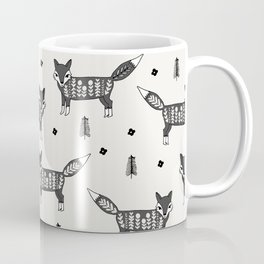 Foxes scandinavian minimal winter christmas neutral pattern by andrea lauren Coffee Mug