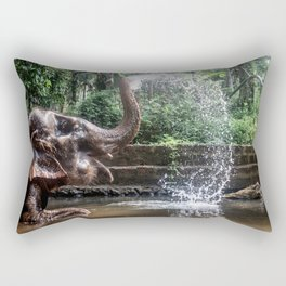 Elephant Bathing Rectangular Pillow