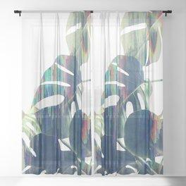 Magic Monstera Leaves Sheer Curtain