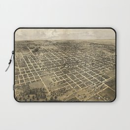 Vintage Pictorial Map of Bloomington IL (1867) Laptop Sleeve