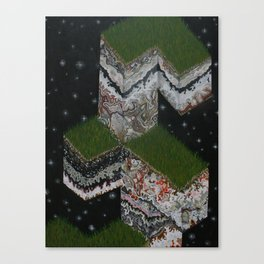 Lace Agate rok cube. Canvas Print