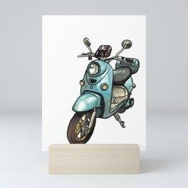 Green Scooter Mini Art Print