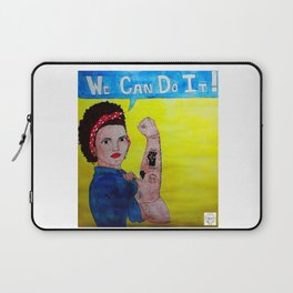 Black Rosie the Riveter Laptop Sleeve