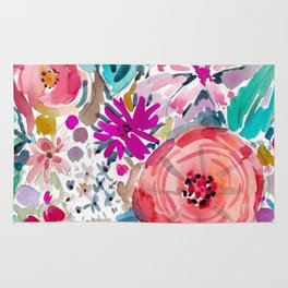 High by the Beach Painterly Floral Rug