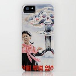Nuclear Warfare in North Korea iPhone Case