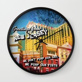 New Jersey Postcard Wall Clock