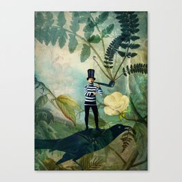 The man under the fern tree Canvas Print