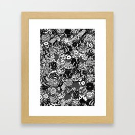 gothic lace Framed Art Print