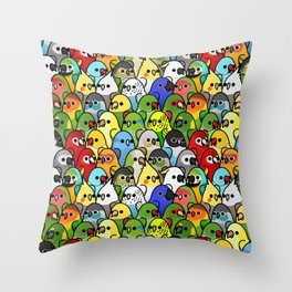 Too Many Birds!™ Bird Squad Classic Throw Pillow