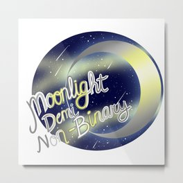 Deminonbinary Moonlight Pride Metal Print