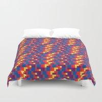 pixel Duvet Covers featuring Pixel  by Colocolo Design | www.colocolodesign.de