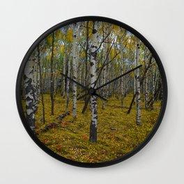 Fall forest walks in Jasper National Park Wall Clock