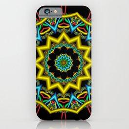 symmetry on black -12- iPhone Case