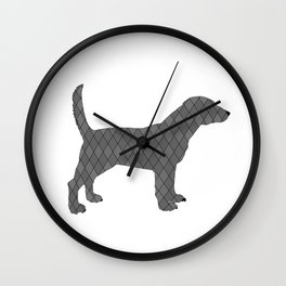 Black beagle Wall Clock