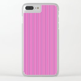 Pink Pinstripes Clear iPhone Case