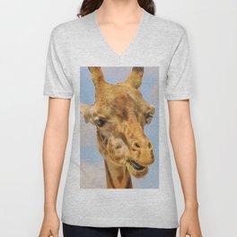 Extraordinary animals-Giraffe Unisex V-Neck