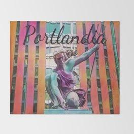 Portlandia Throw Blanket