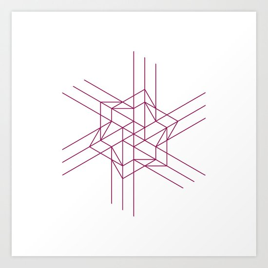 #460 Origami space – Geometry Daily Art Print