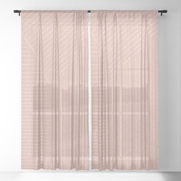 Lines (Blush Pink) Sheer Curtain
