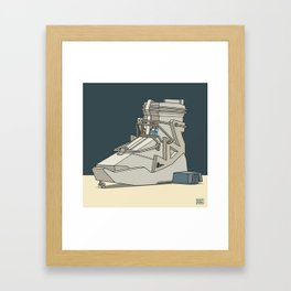 sneaker vehicle Framed Art Print