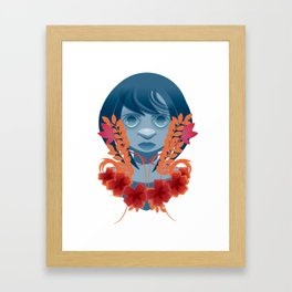 Girl InFlowers 2 Framed Art Print