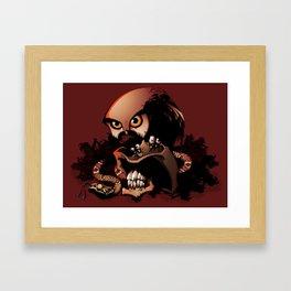 The Dead Cowboy, The Rattlesnake and The Owl Framed Art Print