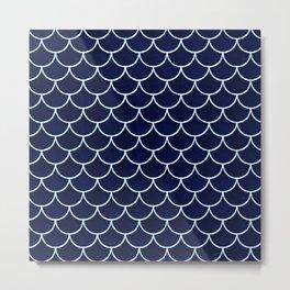 Navy Scale Metal Print